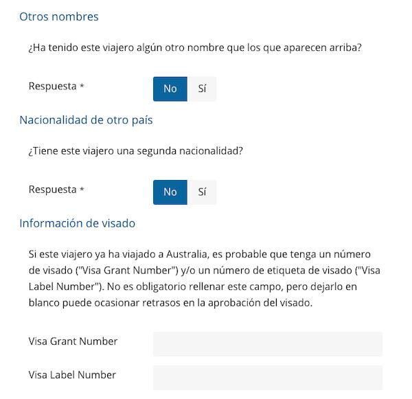 Formulario de solicitud: paso 4