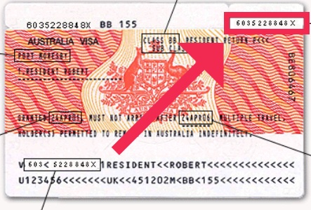 Encontrar el Visa Label Number
