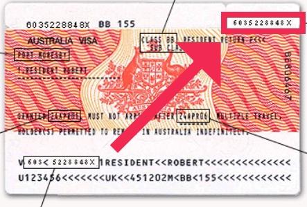 Encontrar el Label Number del visado