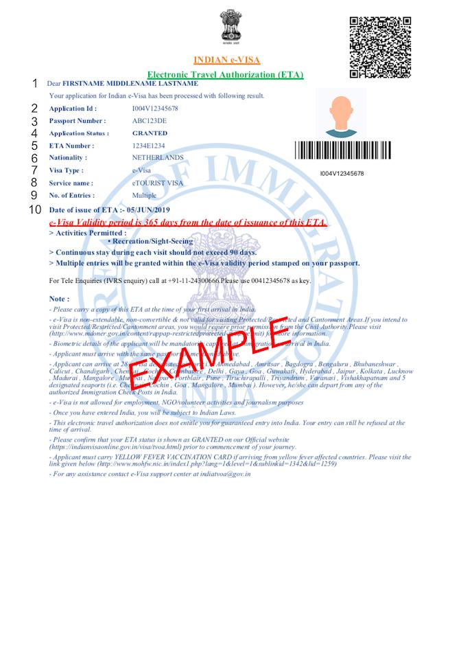 PDF ejemplo visado india