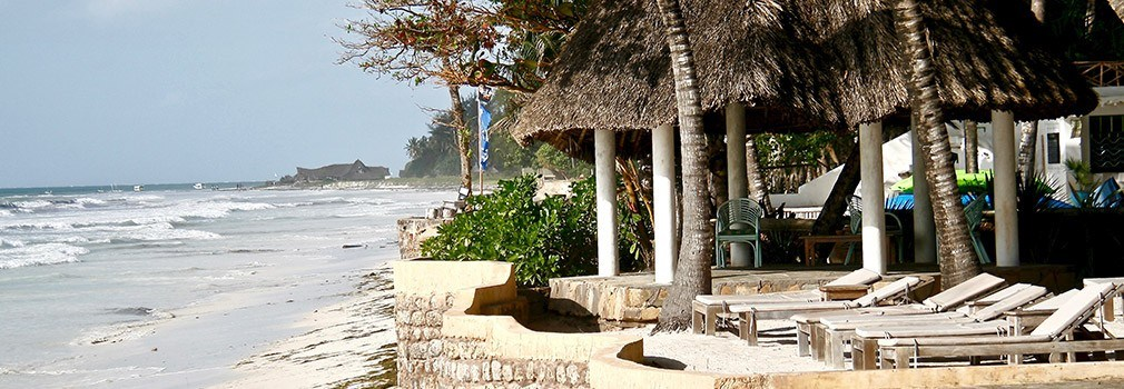 Un complejo turístico en la playa de Diani en Kenia