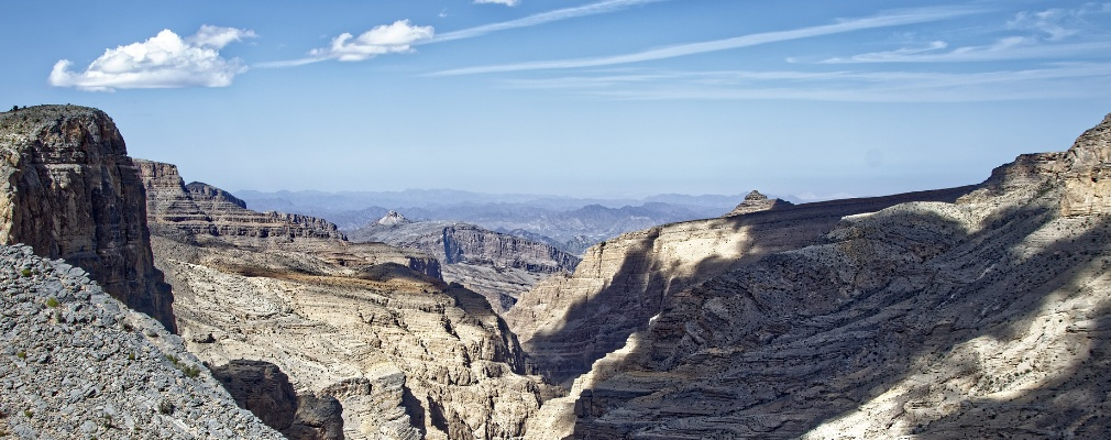 Las altas montañas de Omán