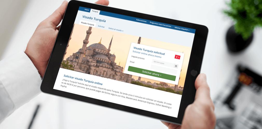 Ejemplo del formulario de solicitud de e-Visado.es